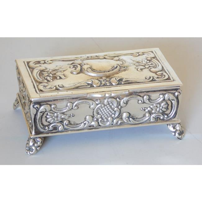 Antique Silver Jewellery Casket