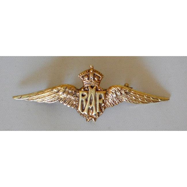 WWII Silver Gilt RAF Sweetheart Brooch