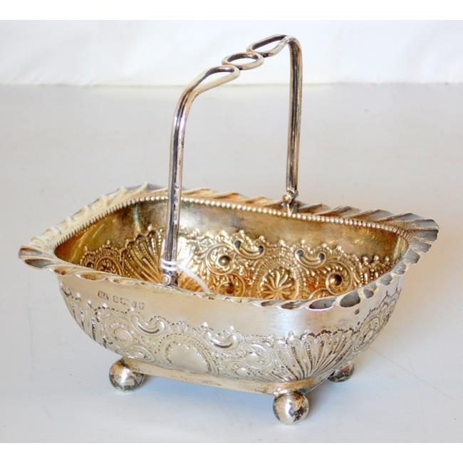 Victorian Sterling Silver Bon Bon Dish by Atkin Bs