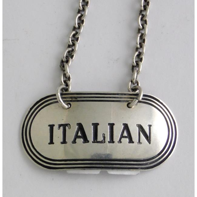 Sterling Silver 'Italian' Decanter Label