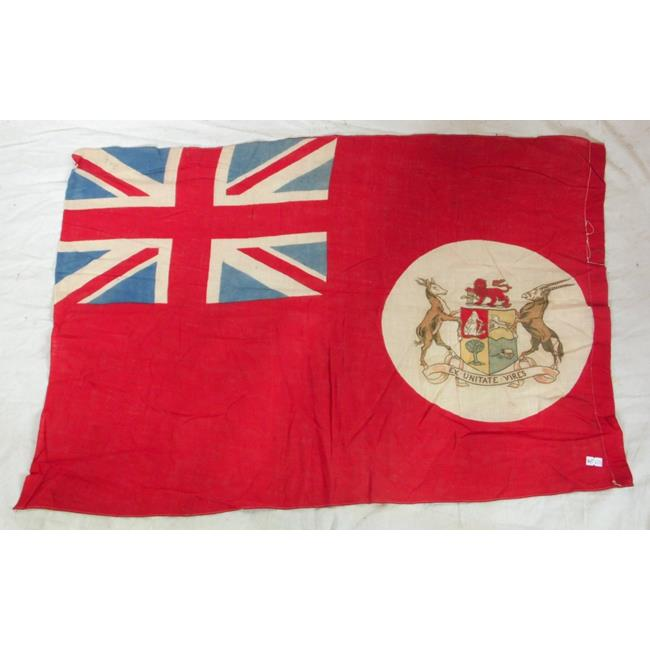 Rare Antique South African Red Ensign. Circa 1910