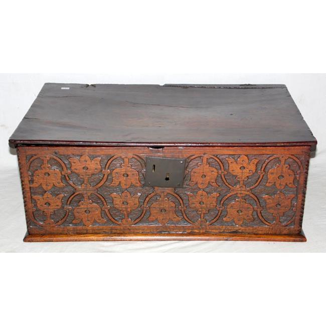 17th Century Carved Oak Bible Box. Circa1680s