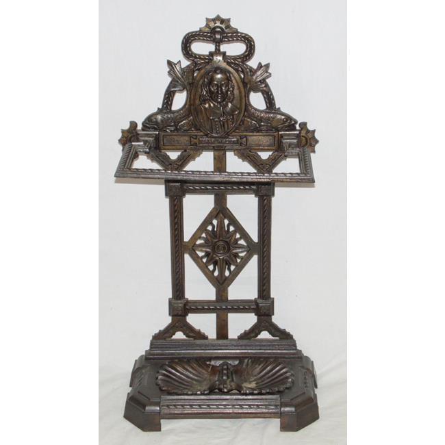 Antique Izaak Walton Cast Iron Stick Stand. C.1916
