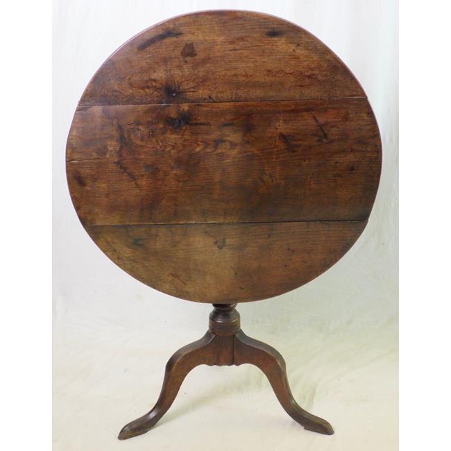18th Century Oak Circular Tripod Table