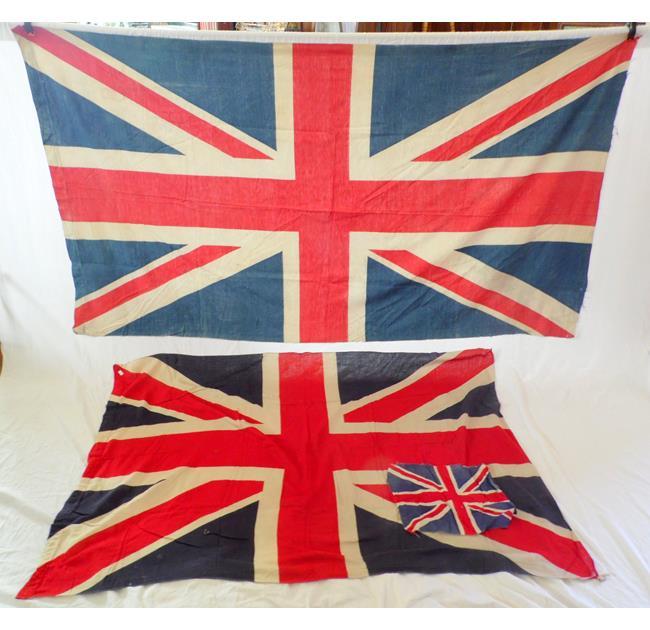 Vintage Union Jack Flags. 20thc.