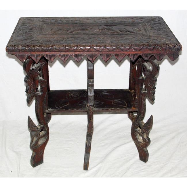 Antique Carved Indian Side Table. Early 1900s