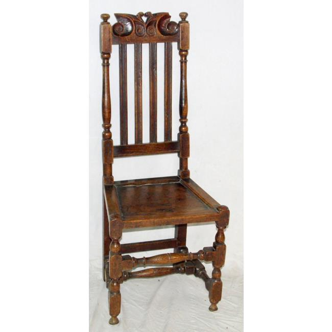 Early 18th Century Oak High Back Chair.