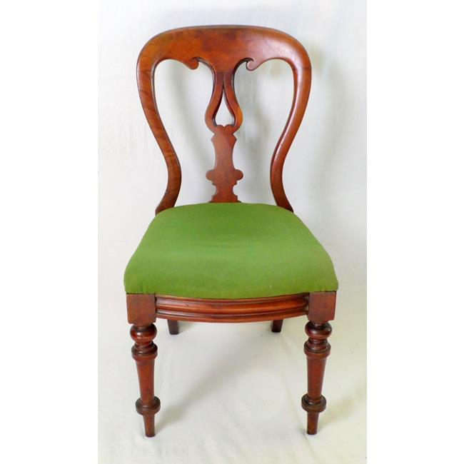 Victorian Mahogany  Bedroom Chair. 19thc.