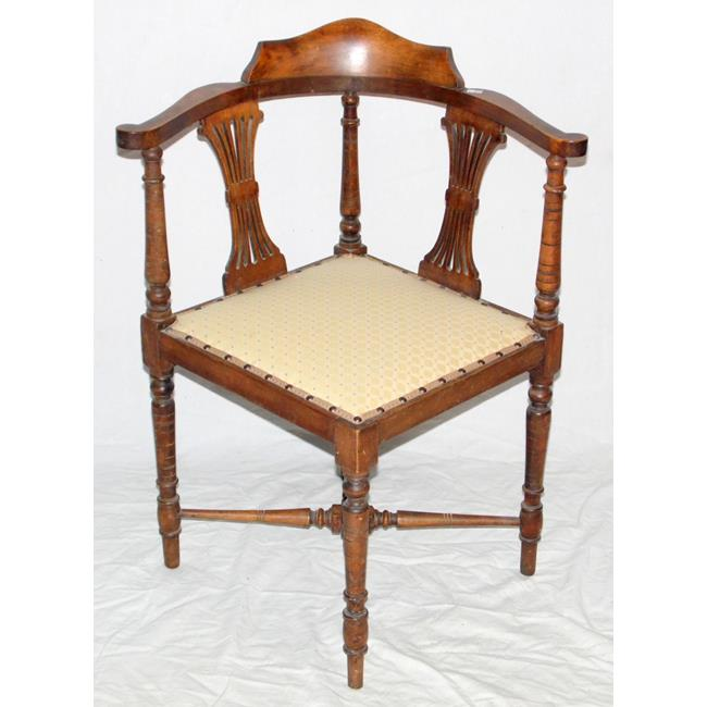 Edwardian Mahogany Corner Chair. Early 1900s