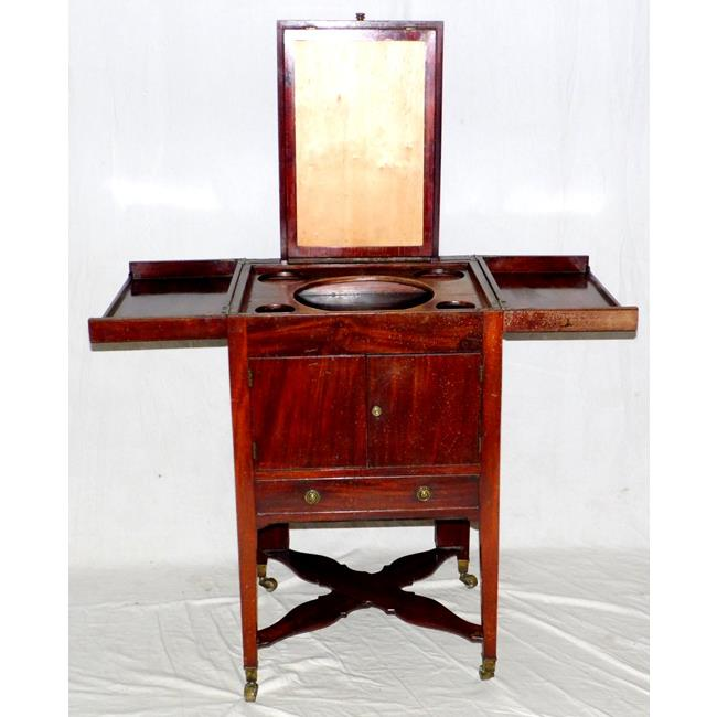 A George lV Mahogany Toilet Cabinet. Early 19thc.