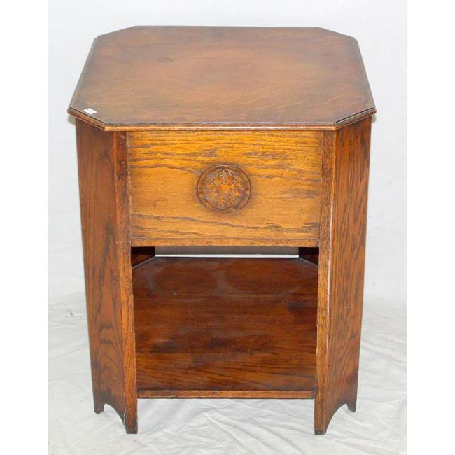 1920s Oak Octagonal Side/Work Table.
