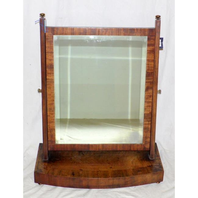 A William lV Mahogany Bowfront Toilet Mirror.