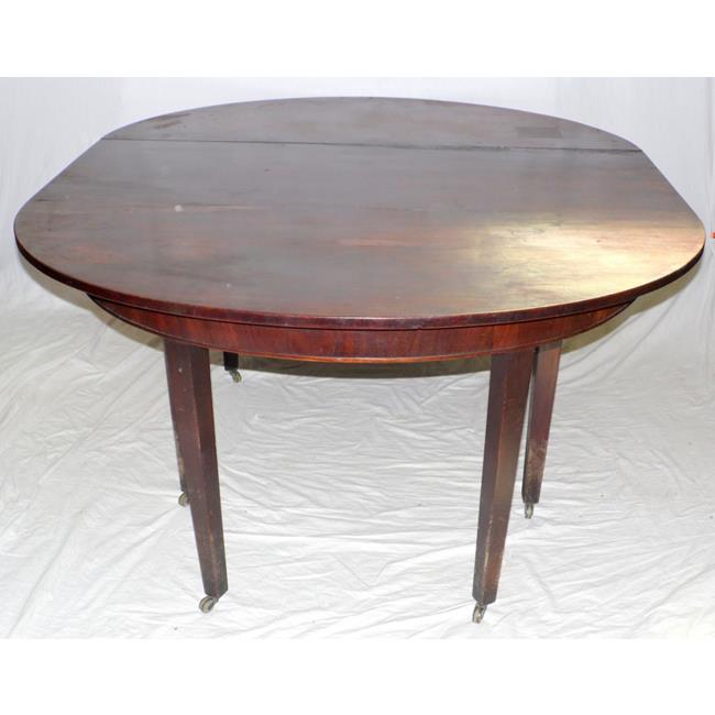 Georgian Mahogany D End Dining Table. Early 19thc