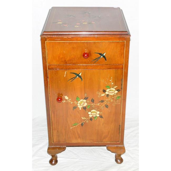 1920s Walnut Bedside Cabinet