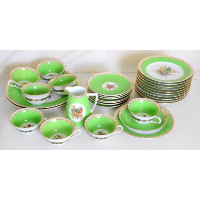 Epiag Bird of Paradise Fine China Tea Set.