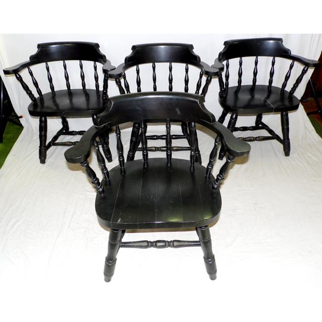 Set of Four Smokers Bow Armchairs.20thc