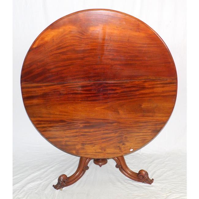 Victorian Mahogany Circular Dining Table.19thc
