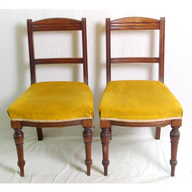 A Pair of Victorian Mahogany Bedroom Chairs.19thc