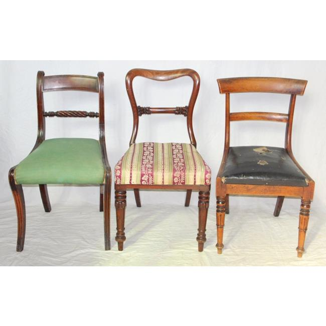 Collection of  3 Antique Regency Dining Chairs