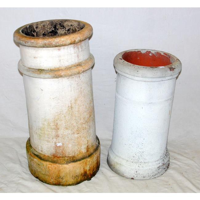 Vintage Circular Chimney Pots x 2