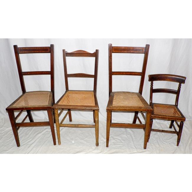 Antique Chairs x 4 19thc