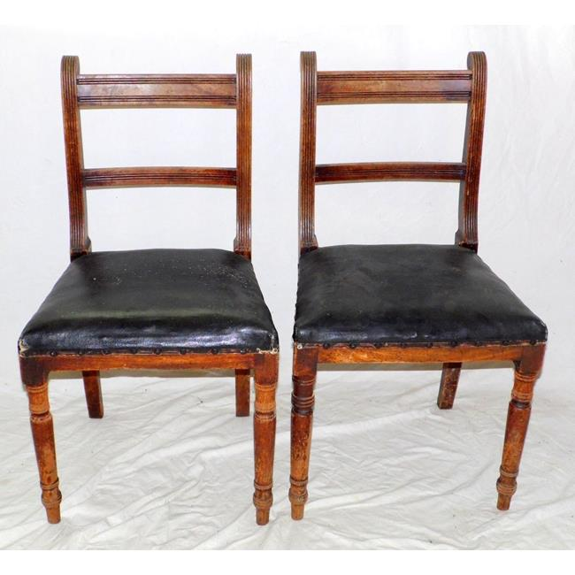 A Pair of Regency Dining Chairs. Early 19thc.