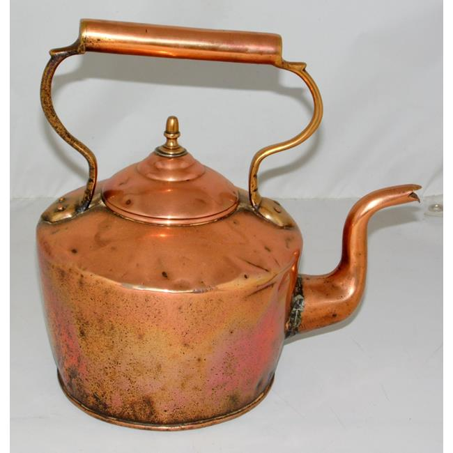 Antique Copper Kettle with Acorn Finial.19thc.