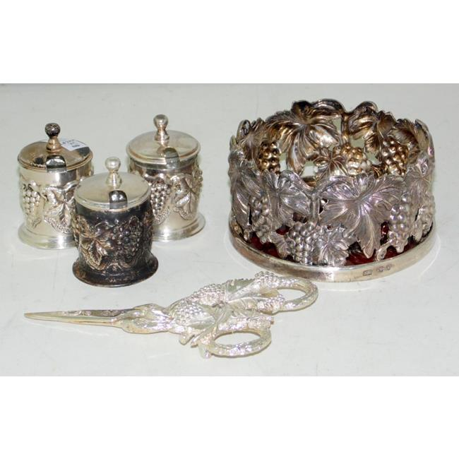 Continental Silver Plate EPNS Grape Pattern