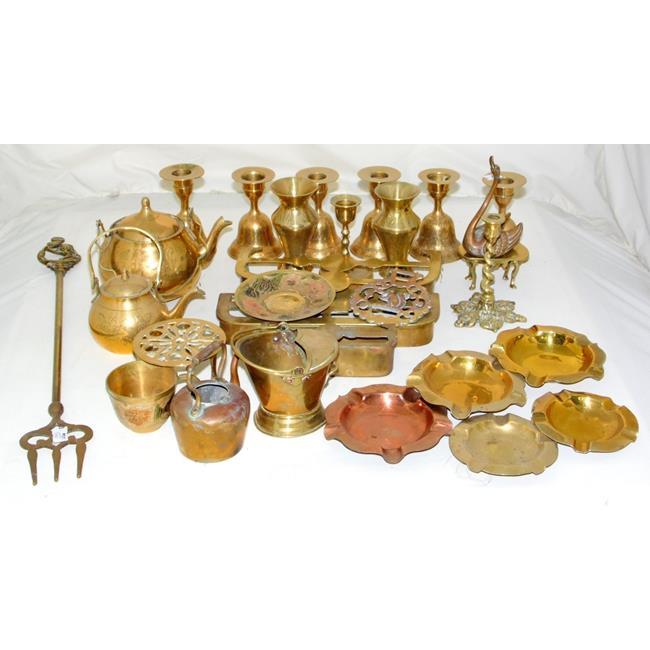 Collection of Vintage Brassware