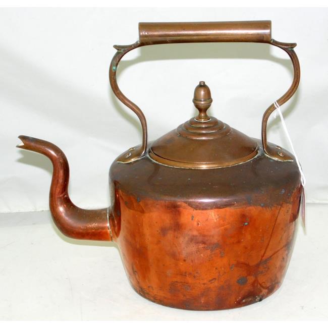 Victorian Seamed Copper/Brass Kettle Acorn Finial