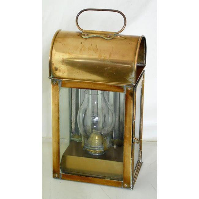 Vintage English Nautical Brass Oil Lamp Lantern
