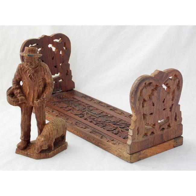 Antique Carved Indian Adjustable Book Stand