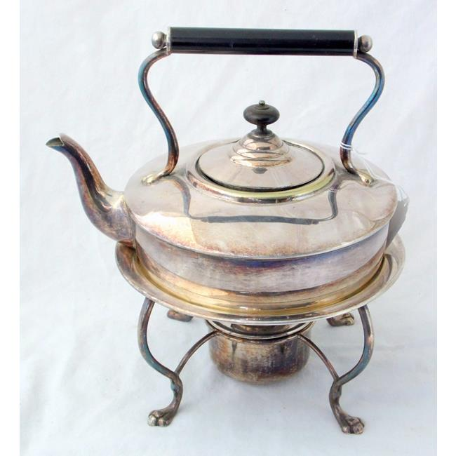 Antique Silver Plated 3 Pint Spirit Kettle