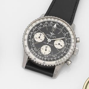 Breitling. A stainless steel manual wind chronograph bracelet watch