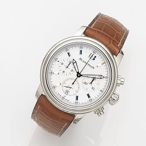 Blancpain. A stainless steel automatic calendar chronograph wristwatch