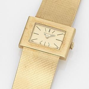 Jaeger-LeCoultre. An 18ct gold manual wind bracelet watch